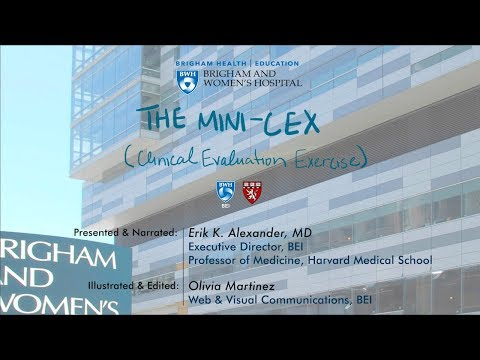 Mini-CEX (Clinical Evaluation Exercise) on YouTube