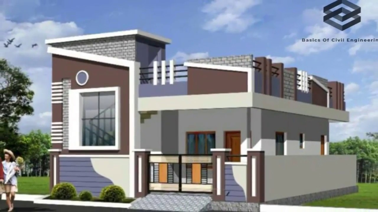 50 Beautiful 3d Front Elevation Design For Single Floor House Youtube