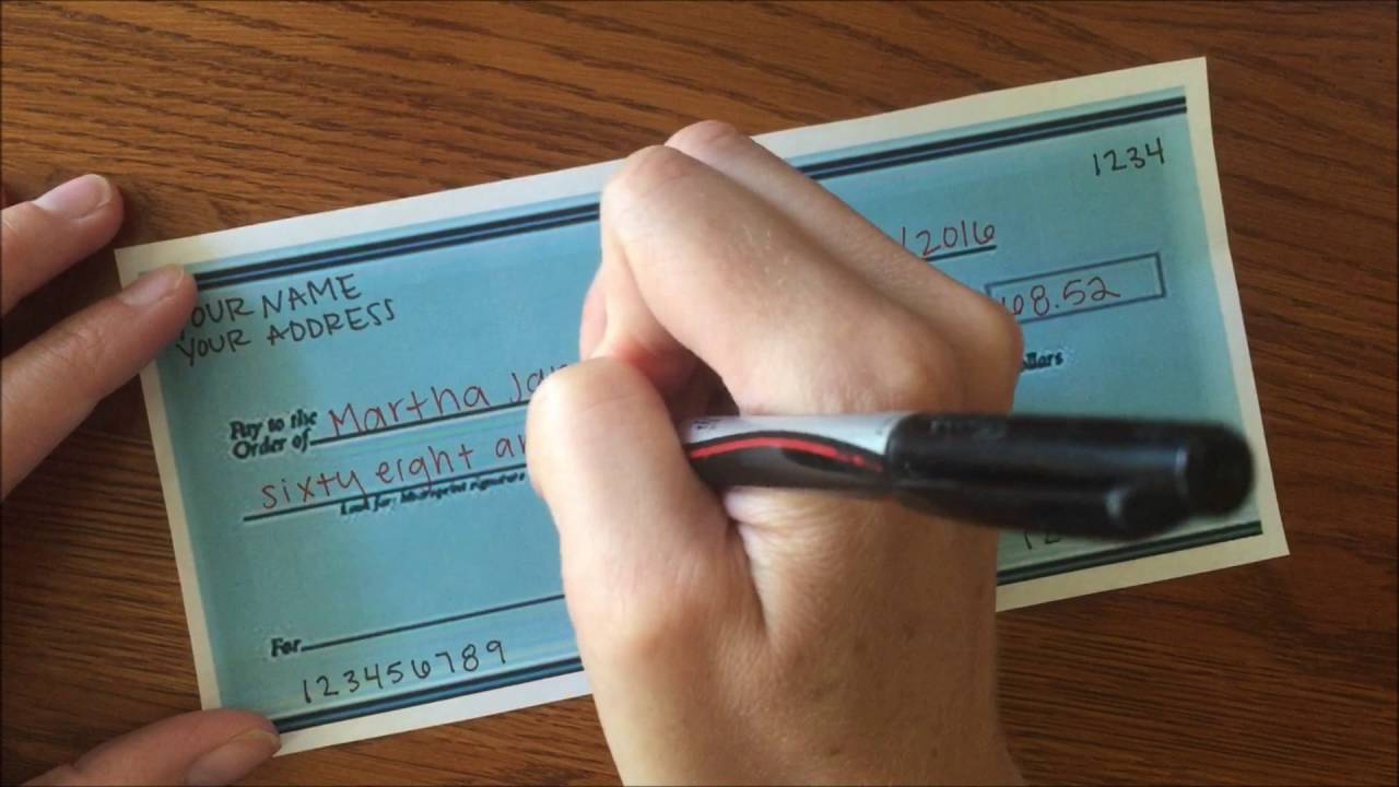 How To Write A Check Video