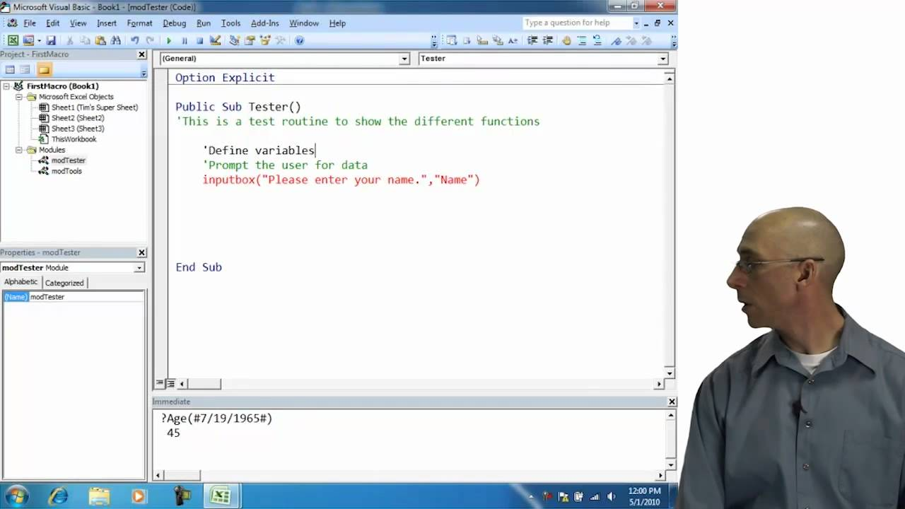 Excel Visual Basic Input Box T...