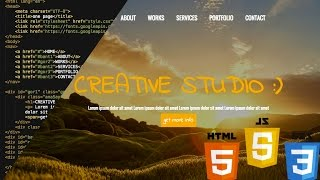 HTML5 & CSS3 Tek sayfa web sitesi nasıl yapılır part 1