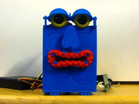 3D Printed ESRA Robot Face running through some movements test