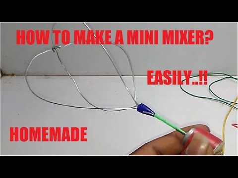 HOW TO MAKE A MINI MIXER EASILY!! - 동영상
