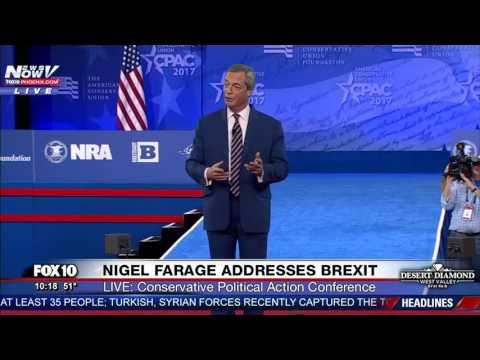 WATCH: British Political Leader Nigel Farage Speaks About Brexit @ CPAC 2017 (FNN)