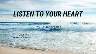 Listen to your Heart with Rev Cassandra Rae
