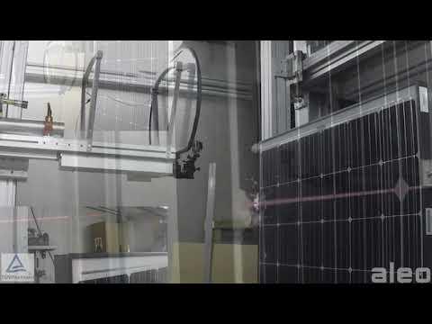 Hail resistance test on aleo solar module