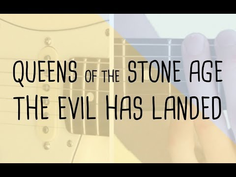 How to play (main riff/verse) The Evil Has Landed Queens Of The Stone Age | Guitar Lesson & Tabsheet