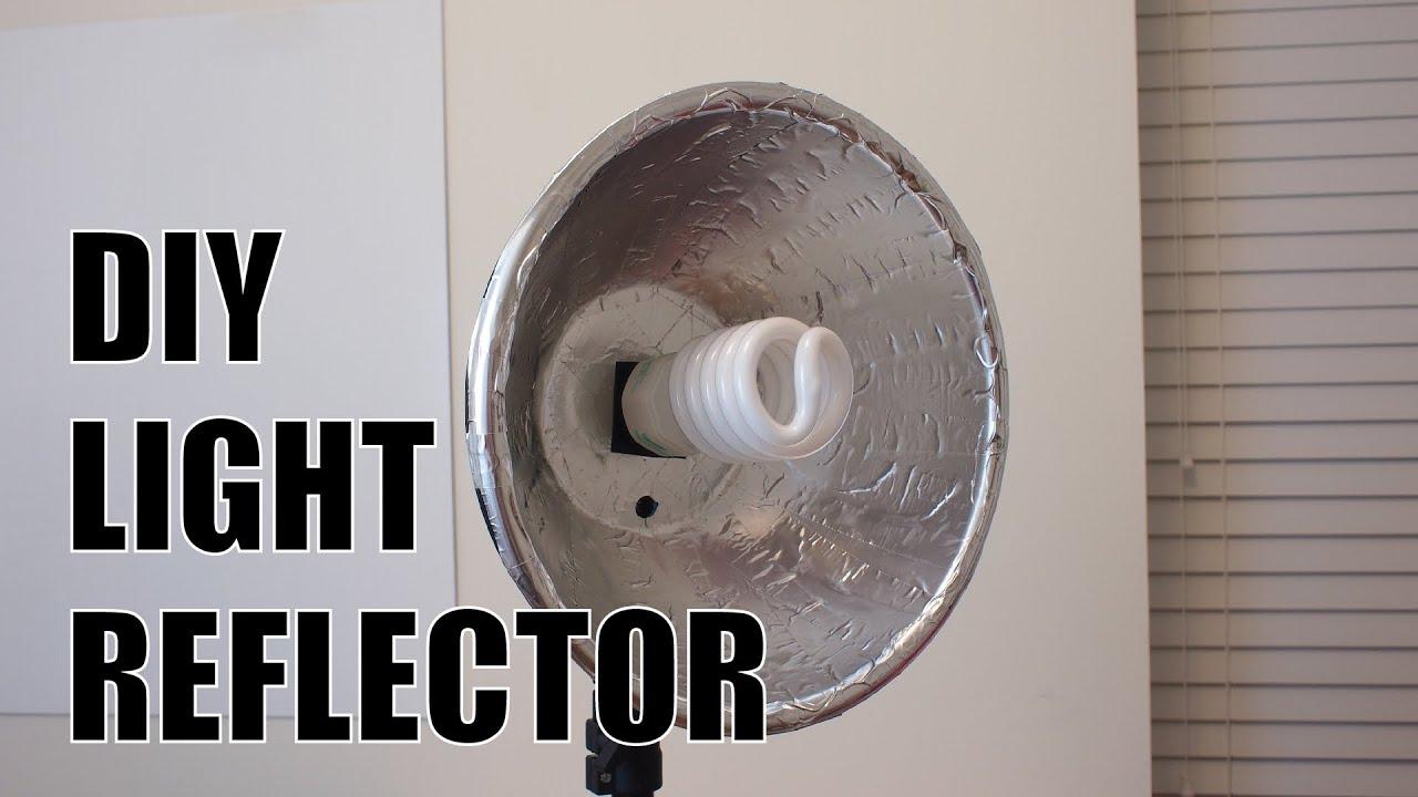 Cheap DIY Studio Light Reflector - YouTube