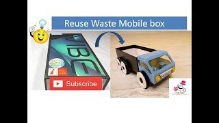 How To Make A Toy Truck | DIY Organizer | Reuse Waste Mobile Box | DIY CraftsLane