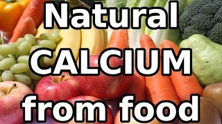 Natural CALCIUM (Ca) mineral from food