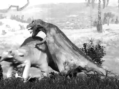 Black and White Dinosaurs-Silent Movie - YouTube