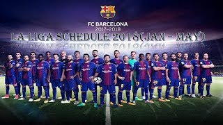 Fcbarcelona la liga schedule 2018 (jan ...