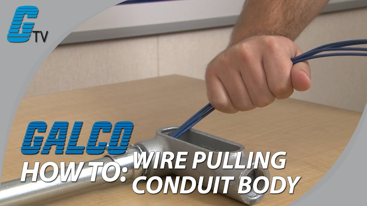 how to pull wire through a conduit outlet body youtube rh youtube com