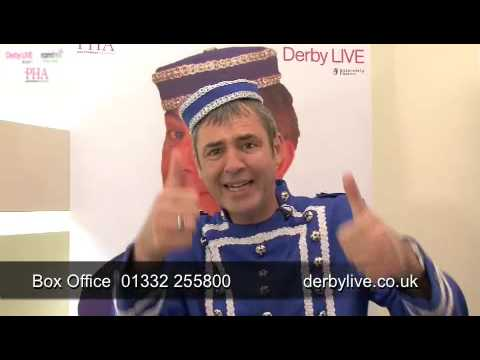 Neil Morrissey as Buttons kissing himself in Cinderella at the Derby Live Assembly Rooms