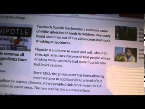 USA GOV LOWERS FLUORIDE FIRST TIME IN 50 YRS