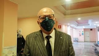 Arturo Oliva,  pres ordine dei Medici di Brindisi, il primo a vaccinarsi contro il Covid