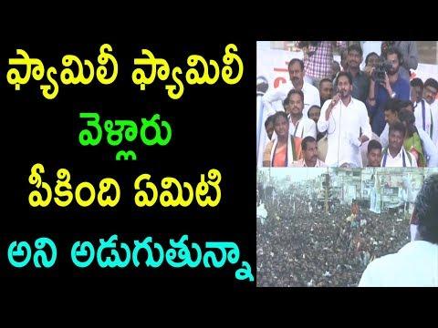 ఫ్యామిలీ ఫ్యామిలీ వెళ్లారు పీకింది ఏమిటి YS Jagan Parvathipuram Public Meeting  | Cinema Politics