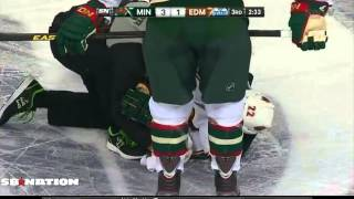 Taylor Hall knees Cal Clutterbuck