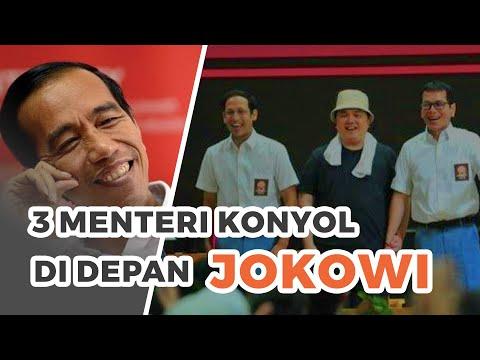 Aksi Konyol 3 Menteri di Depan Jokowi, saat...