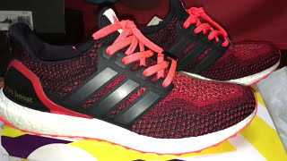 ADIDAS ULTRA BOOST - SOLAR RED UNBOXING & ON FEET
