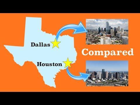 Houston and Dallas