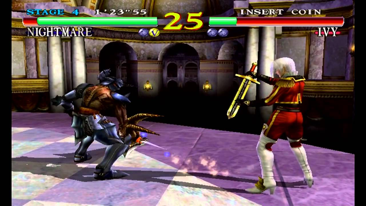 SoulCalibur Dreamcast Gameplay HD 720p Arcade Mode Nightmare - YouTube