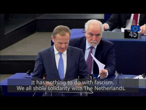 President Tusk on the Netherlands situation
