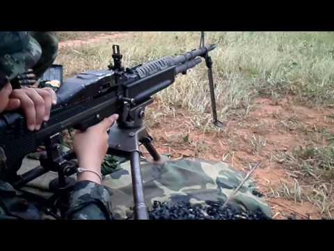 M60 Machine Gun ปืนกล 7.62 mm. สาธิตการยิง