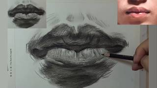 How to Draw Mouth & Lips 03
