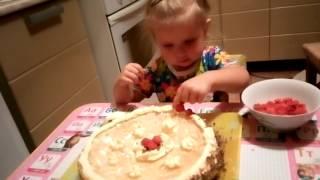 ♛ Liza готовит! ツ Вкусный бисквитный торт с желе!!!