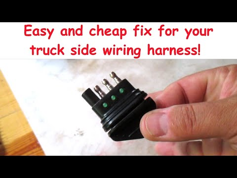 FIX YOUR TRAILER LIGHTS (1) - Checking The Truck Side Plug