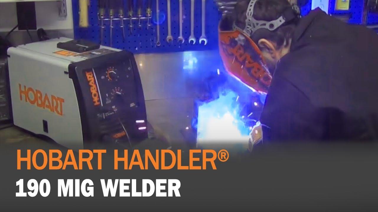 Hobart Handler 190 MIG Welder (500554) - YouTube