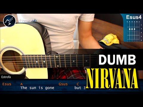 Como tocar Dumb de NIRVANA en Guitarra Acustica (HD) Tutorial COMPLETO