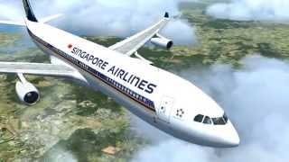 Singapore Airlines A340-300 Incheon to Singapore [FSX HD]