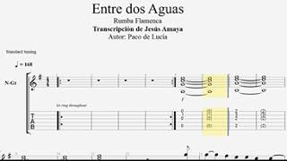 Entre dos Aguas - Paco de Lucía - Tablatura por Jesús Amaya...