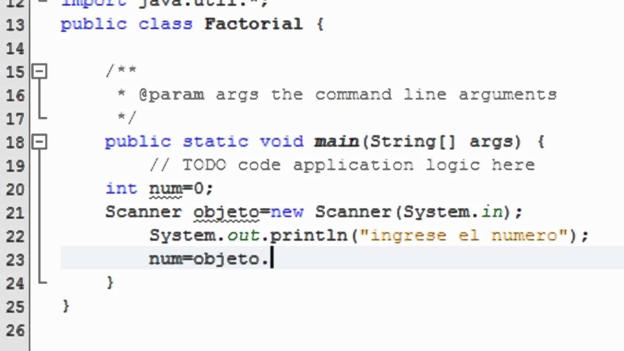 Factorial De Un Numero En Java Youtube
