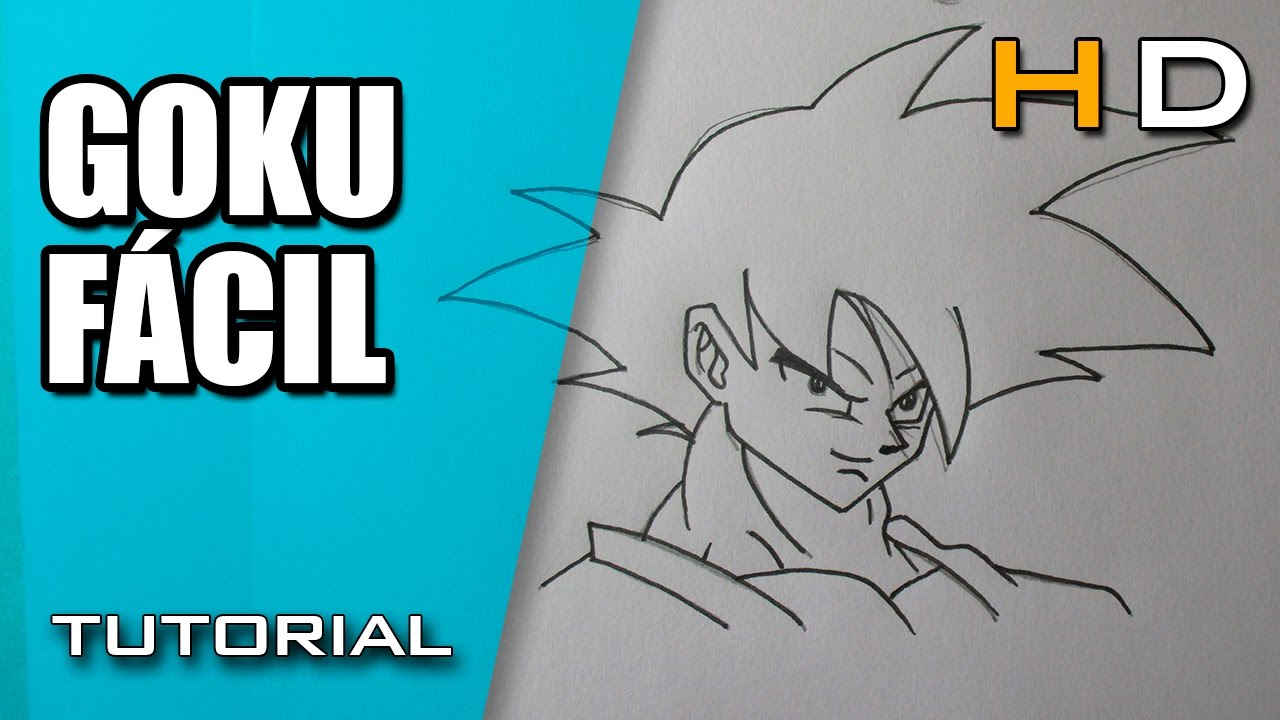 Cómo Dibujar a Goku Paso a Paso Fácil Dibujo Fácil y