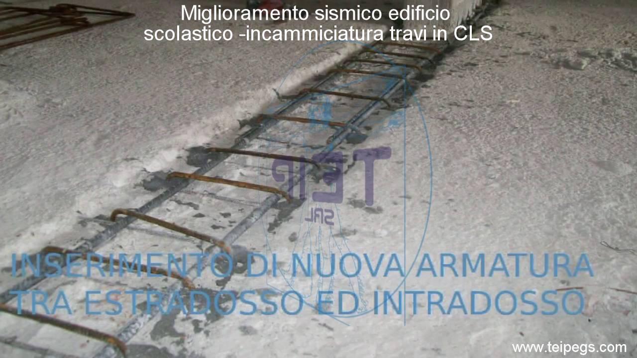 Miglioramento sismico con incamiciatura di travi in cls for Planimetrie di pontili e travi