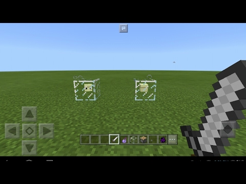 how to make glass in minecraft pe