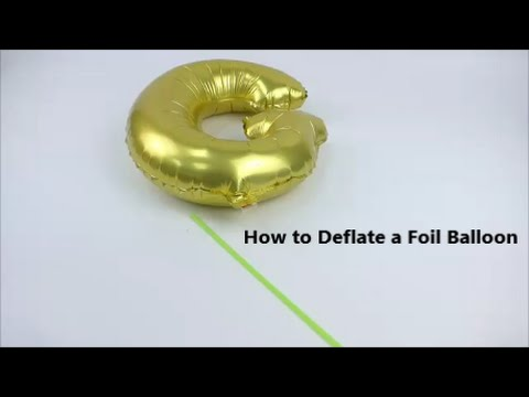 How to deflate a foil balloon