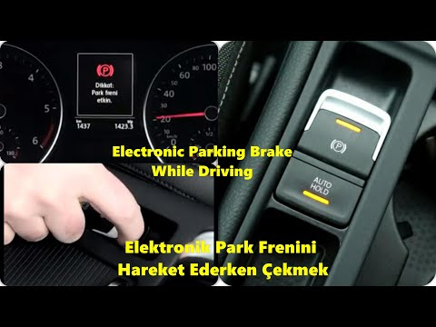 Park Frenini Hareket Halindeyken Çekmek | Electronic Parking Brake While Driving-Golf 7-Subtitles