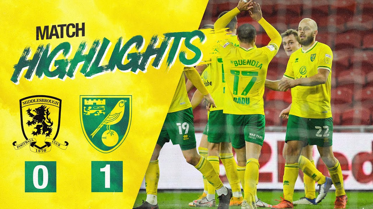 HIGHLIGHTS | Middlesbrough 0-1 Norwich City