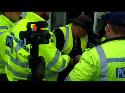 Ian R Crane Arrested at Anti Fracking Protest Kirby Misperton North Yorkshire