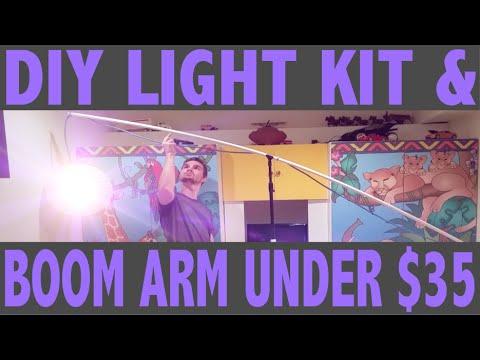 Fridays S1E6 DIY Light Kit u0026 Boom Arm Under $35 (Part 2)  sc 1 st  YouTube & Fridays: S1E6 DIY Light Kit u0026 Boom Arm Under $35 (Part 2) - YouTube