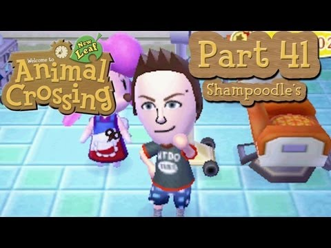 Animal Crossing: New Leaf - Part 41:  Cafe Grand Opening and Visiting Shampoodles!