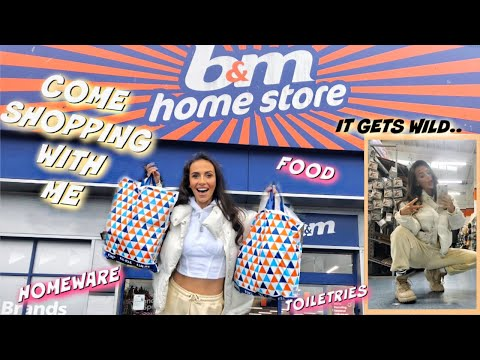 COME SHOPPING WITH ME IN B&M - HUGE HAUL & it gets WILD! (Homeware, toiletries, food)