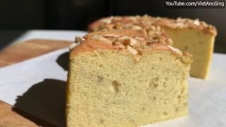 Bánh Bông Lan Chuối - bánh bông lan bằng bột mì đa dụng | Banana Sponge Cake recipe