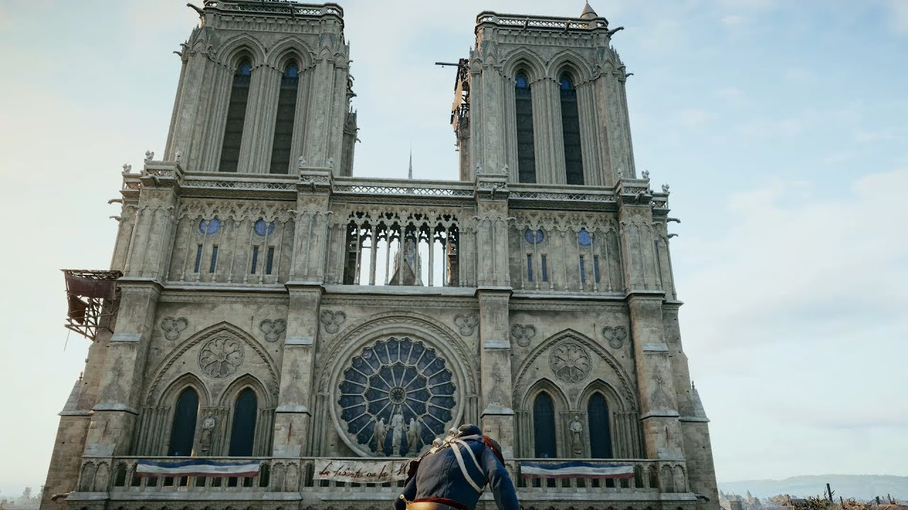 What Notre Dame In Assassins Creed Unity Looks Like Inside Video