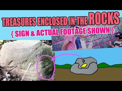 TREASURES ENCLOSED IN BIG ROCKS { SIGNS PLUS ACTUAL FOOTAGE }