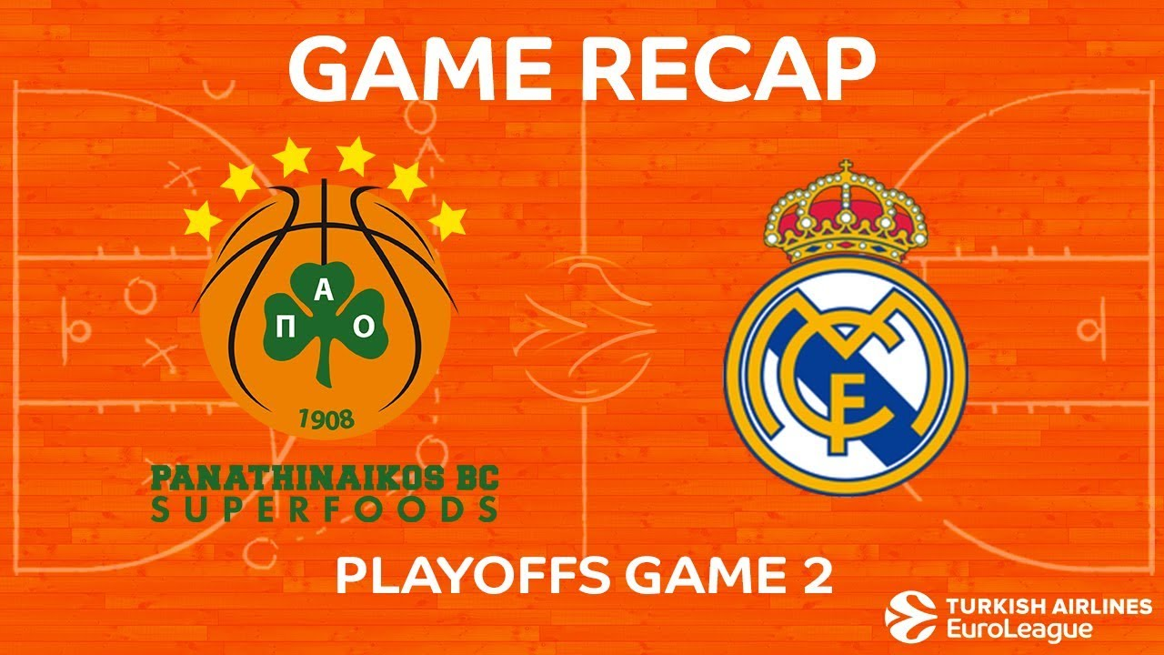 fc676a61728 Highlights: Panathinaikos Superfoods Athens - Real Madrid. EUROLEAGUE  BASKETBALL